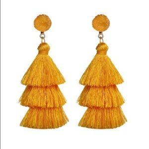 Jewelry - Boho Stone Tassel Earrings